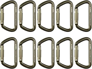 Fusion Climb Tazo III 军事警察战术版铝合金直门登山扣狼棕色 10 件装