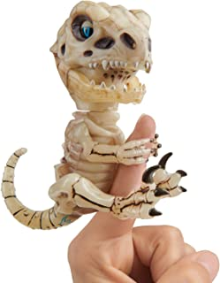 WowWee 凶猛迅猛龙骨架手指玩具 忧郁(沙)色 可收藏互动型恐龙玩具