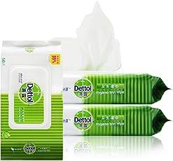 Dettol 滴露湿巾 成人儿童卫生杀菌清洁湿纸巾 擦手便携家用组合装50抽*3 (亚马逊自营商品, 由供应商配送)
