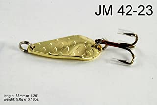 Akuna [JM42] Mini Holographic Hand Painted Fishing Casting Spoon Fish Lure for Bass Trout and Pike