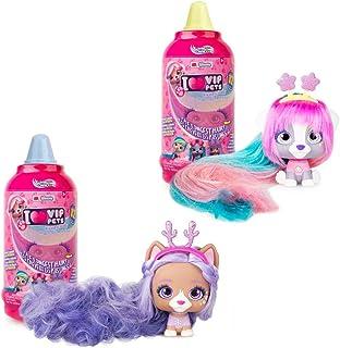"IMC Toys VIP 宠物 – 惊喜发娃娃 – 系列 1 老鼠瓶 6-8 Hair Reveal Doll 2组 ""Multi"""