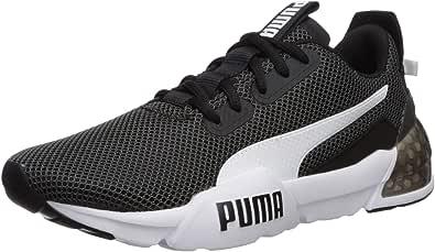 PUMA 男士 Cell Phase 运动鞋 黑色/白色 4.5 Big Kid
