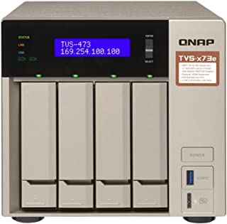 QNAP TVS-871-i7-16G-USTVS-473e-8G-US TVS-473e 4 Bay, 8GB, With HDMI, AMD