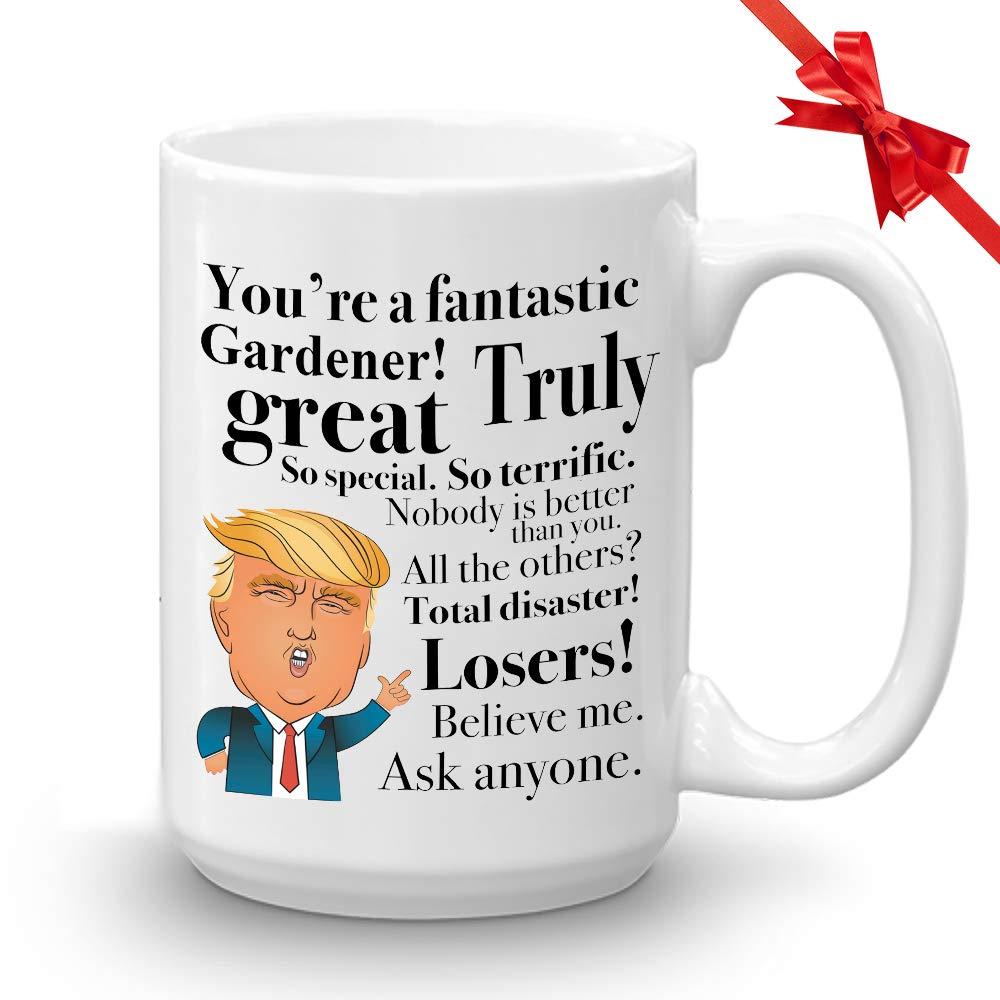 Donald Trump 咖啡马克杯 - 425 g 新颖杯礼品送给园艺师种植者园艺家生日圣诞礼物 总统共和党人