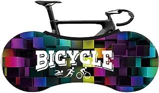 SOFTBATFY 室内山地车罩自行车收纳罩自行车车轮罩,室内防尘山地车收纳袋可保持地板和墙壁防污适合26-28英寸的轮胎