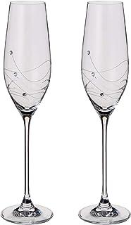 Dartington Crystal - 闪光香槟杯 2 件套 - 礼品盒包装