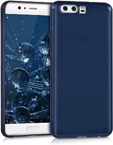 kwmobile 水晶保护套华为 P10 - 柔软有弹性 TPU 硅胶保护壳 - 黑色透明42123.98_m000701 .high gloss blue