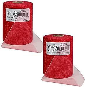 Expo International Shiny 15.24 厘米薄纱线轴(2 包) 红色 100 yd TL2426RD-2
