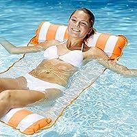 Aqua Monterey 四合一多功能充气吊床 均码 Orange Stripe