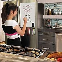 Acorn Ace 廚房冰箱的磁性干擦白板-30.48 厘米 x 45.72 厘米防污白板套裝,帶 5 支細尖標記和橡皮擦的理想冰箱收納 - 家庭規劃器