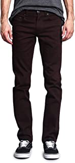 victorious 男式緊身版型彩色彈力牛仔褲 dl937 棕色 38W x 32L