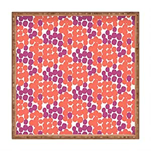 Deny Designs Zoe Wodarz Dot Delights 室内/室外方形托盘 大 51189-tsqula