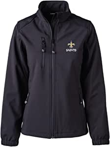 Dunbrooke 服装 NFL 新奥尔良圣徒女士软壳夹克,L 码,黑色