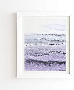 Deny Designs Monika Strigel In The Tides 带框墙体艺术,20.32 cm x 24.13 cm,紫色