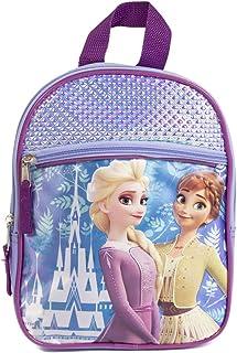 Disney 冰雪奇缘 2 公主 Elsa & Anna 迷你背包 适合女孩和幼儿 - 10 英寸,紫色