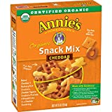 Annie's Homegrown Cheddar Organic Snack Mix, Bunnies Cheddar, 9-Ounce Boxes (Pack of 12)