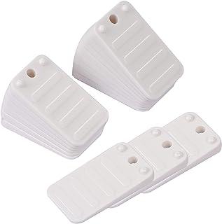 KEILEOHO 42 件塑料垫子,白色家具水平器耐用家居改进 DIY 水平器,适用于餐厅桌、卫生间垫、可堆叠的楔子,适用于门、床、沙发、棚舍等