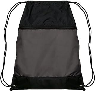 CHAMPRO 运动抽绳包带拉链口袋,木炭色,45.72 cm 高 x 35.56 cm 宽