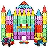 Magnet Build Deluxe 100片三维磁性瓷砖建筑组合 超强磁铁和超耐用瓷砖,具教育性,具创意性,各种形状和鲜丽亮色