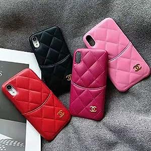 经典奢华 iPhone XR 手机壳,iPhone XR 复古字母组合手机壳 - 快速配送 粉红色