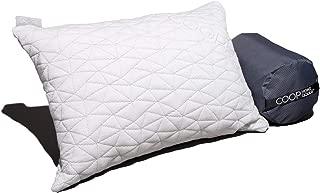 露营和旅行枕头,带竹衍生粘胶纤维罩 - 可调节压缩 - 包括收纳袋 非常适合背包、飞机或汽车旅行 - 48.26 厘米 x 35.56 厘米 - *泡沫旅行枕