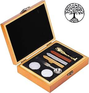 蜡印章套装,Yoption 经典复古密封蜡印章套装,复古金色电镀手柄礼品木盒套装 生命之树 AGUS162