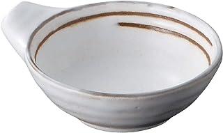 佐治陶器 小碗 白色 13cm 万古烧 炸猪 粉引器 12-60