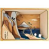 WoodyJOE 东海道五十三次系列 由井 萨岭 (樱花)木制模型 无比例 组装套件