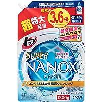 LION 獅王 top super nanox 洗衣液 替換裝 特大量1300克