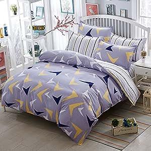 家庭装饰床上用品被套套装超软低*性超细纤维防污棉被套 盖被套 - 出自 City Dreams Queen KF-LSZ4-1118