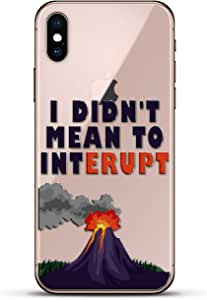 Luxendary Un-Case 系列设计师玻璃背板 iPhone Xs/XLUX-IXGL-VOLCANO1 QUOTE: I Didn't Mean to Interrupt Volcano Quote 透明
