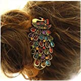 Beautiful Jewelry Peacock Design * Women Rhinestones Hair Clips Hair Pin for Wedding Bridal Party Headdress Hair Accessory