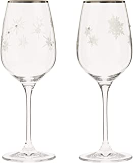 NARUMI 鸣海 对装 红酒玻璃杯 snow&star 340cc(约340ml) 2客组合装 GW4065-63393A