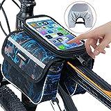 自行车包,RilexAwhile 自行车顶管手机包自行车储物袋适用于*大手机屏幕 6.2 英寸带防水触摸屏手机套