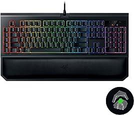 Razer 雷蛇 黑寡妇蜘蛛幻彩版V2游戏机械键盘黑色绿轴 BlackWidow Chroma V2(供应商直送)