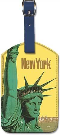 人造革复古艺术行李标签 - 纽约,Stan Galli 出品