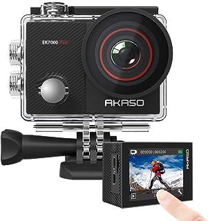 AKASO EK7000 Pro 4K 操作相機帶觸摸屏 EIS 可調視角 40m 防水攝像機遙控運動相機帶頭盔配件套件