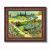 ANKH 阿尔勒的花园 梵高 古典油画 抽象 客厅 装饰画 三联 欧式壁画 餐厅 挂画 品质选择 艺术之作