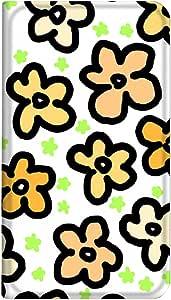 智能手机壳 手册式 对应全部机型 薄型印刷手册 cw-008top 套 手册 花纹 超薄 轻量 UV印刷 壳WN-PR060878-L AQUOS Xx-Y 404SH 图案D