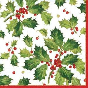 纸巾 节日聚会圣诞派对用品装饰晚餐巾 多色 Dinner Pack of 40 7.5