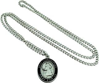 圣克里斯托弗勋章项链和祈祷卡   美丽耐用的吊坠   全尺寸祈祷卡   男士礼物   基督教珠宝