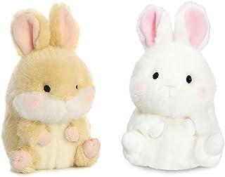 2 件装 Aurora 12.7 厘米毛绒豆袋:活泼兔子和兔子