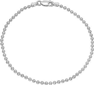 925 纯银 1.8mm-5mm 意大利工艺球珠项链 40.64cm 45.72cm 50.8cm 55.88cm 60.96cm 76.2cm + 赠送布