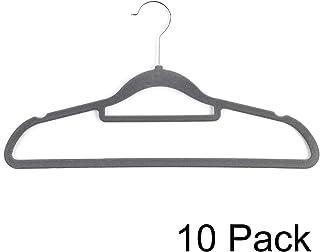 Beldray LA063717GRYEU 10件装优质衣架,带天鹅绒套,灰色,均码