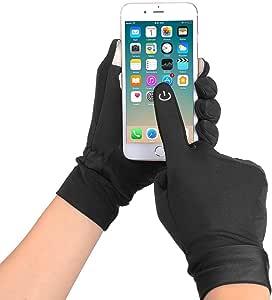 触屏手套,冬季手套跑步手套,男士和女士户外手套骑行手套,FOISON 出品 小号 黑色 FS-TG001