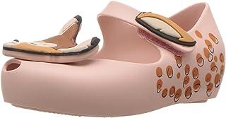 mini melissa 女童 迷你 Ultragirl + Bambi 芭蕾平底鞋,沙色,10 M US Toddler
