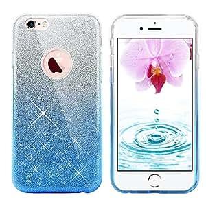 Iphone 8 手机壳,Eraglow Iphone 8 后盖闪亮防护防撞闪光手机壳适用于 4.7 英寸 iPhone 8 2017 发布EG-B22-GB Gradient-blue