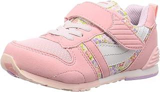 MoonStar 月星 运动鞋 轻便 魔术贴 14~21cm 有0.5cm 儿童 MS C2121S 粉色花 16.5 cm 2E