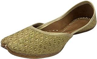 Step n Style Zari Punjabi Jutti 女士民族手工 Mojari 设计师 Jutti