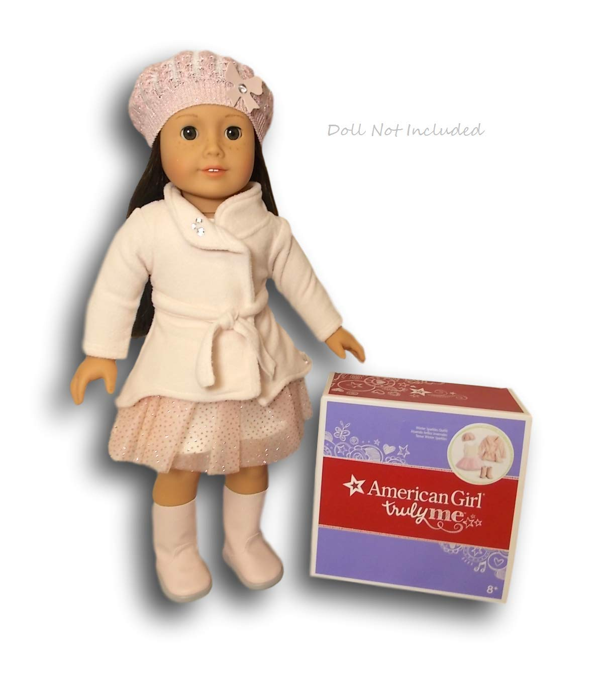 American Girl Truly Me Winter Sparkles 套装,适合 18 英寸玩偶(不含玩偶)